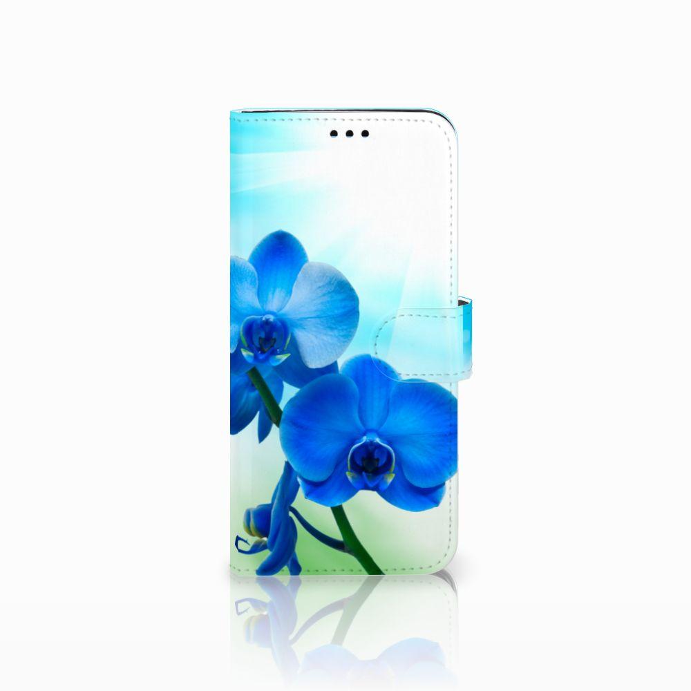 Samsung Galaxy S9 Plus Boekhoesje Design Orchidee Blauw