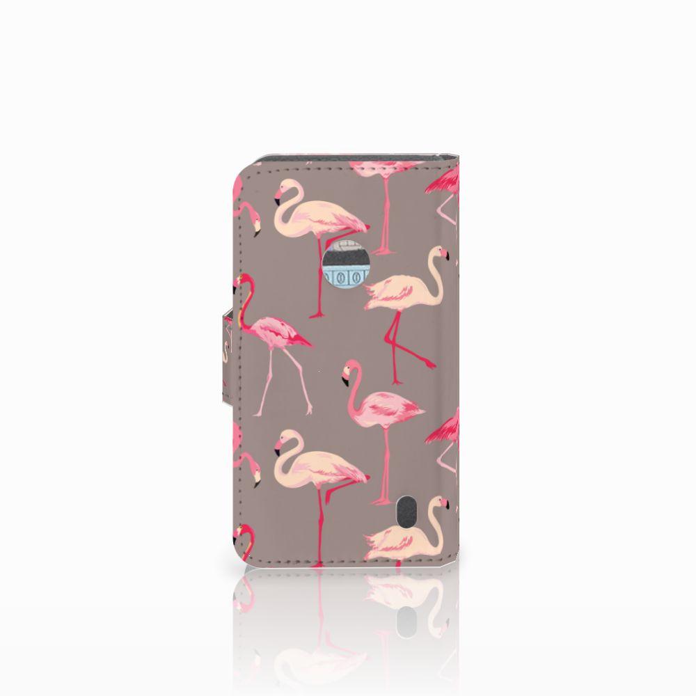 Nokia Lumia 520 Telefoonhoesje met Pasjes Flamingo