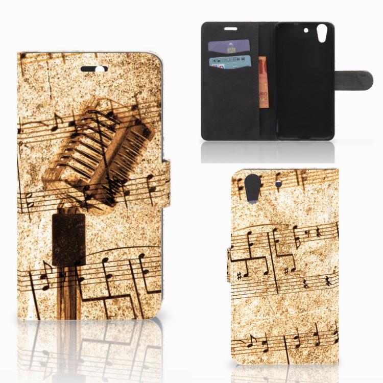 Huawei Y6 II | Honor 5A Telefoonhoesje met foto Bladmuziek