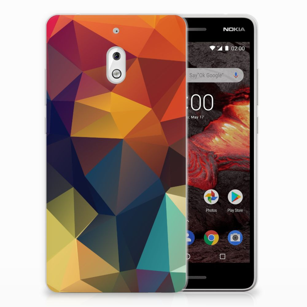 Nokia 2.1 (2018) TPU Hoesje Polygon Color