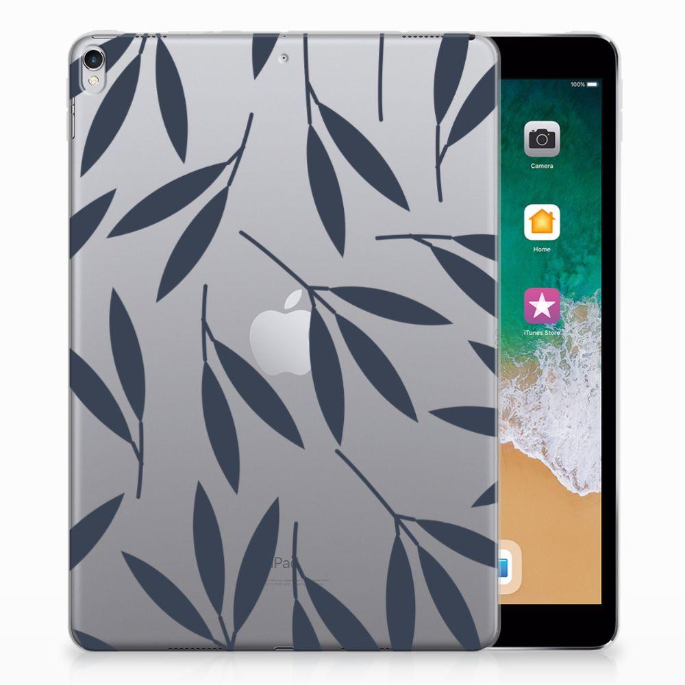 Apple iPad Pro 10.5 Tablethoesje Design Leaves Blue