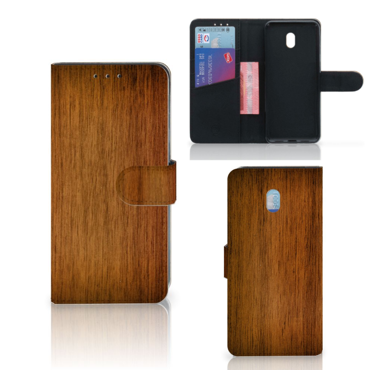 Xiaomi Redmi 8A Book Style Case Donker Hout