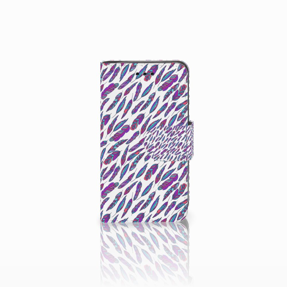 Samsung Galaxy Trend 2 Boekhoesje Design Feathers Color