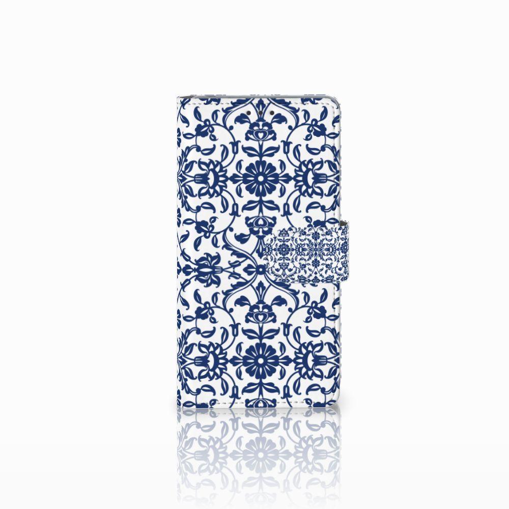 Sony Xperia Z Boekhoesje Flower Blue