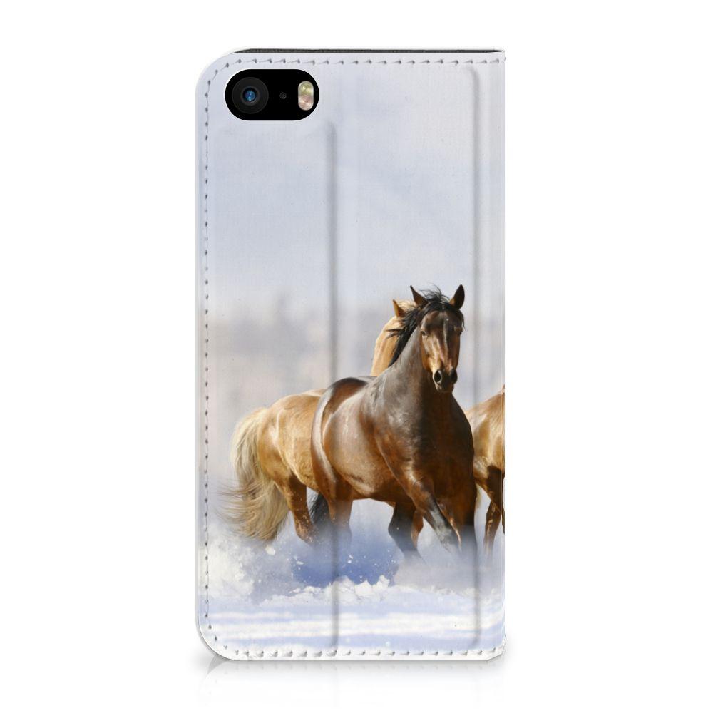 iPhone SE|5S|5 Uniek Standcase Hoesje Paarden
