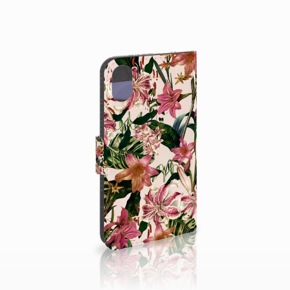 Apple iPhone X | Xs Uniek Boekhoesje Flowers