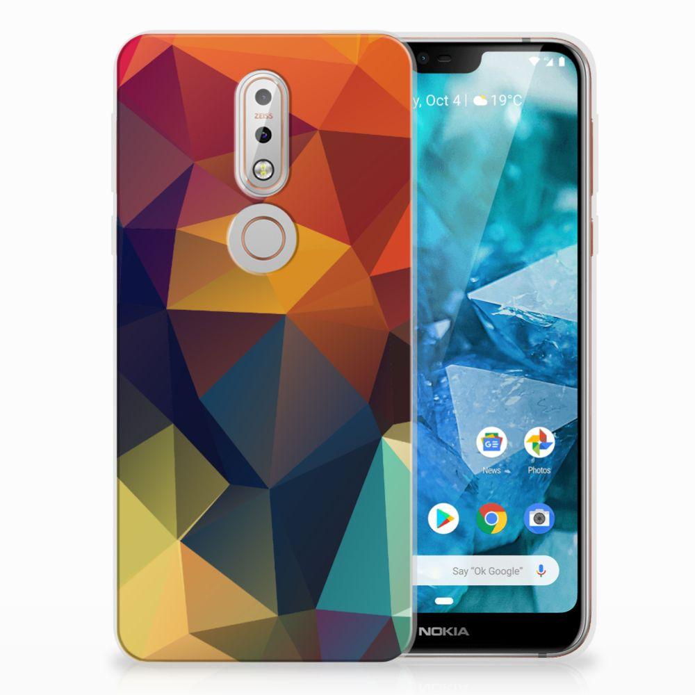 Nokia 7.1 TPU Hoesje Design Polygon Color