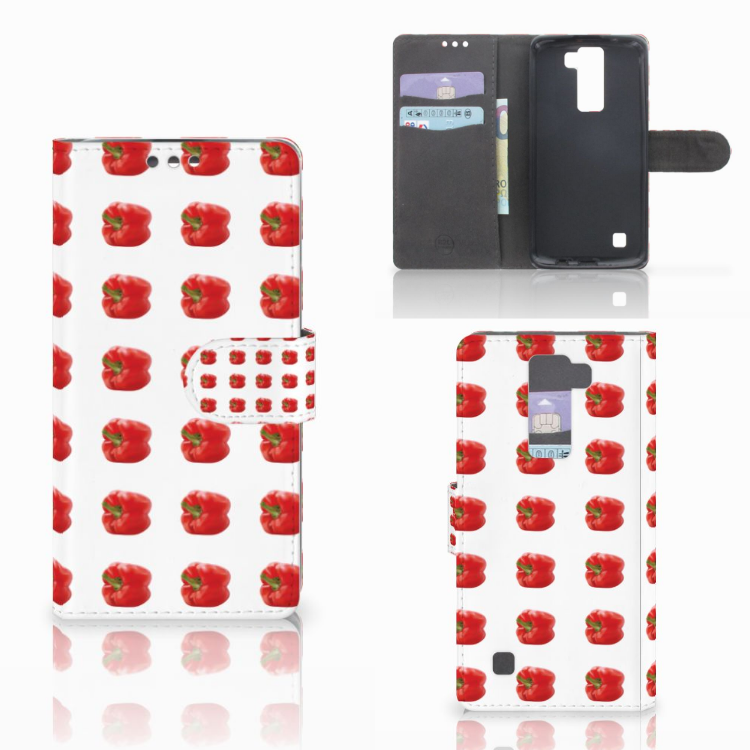 LG K8 Book Cover Paprika Red