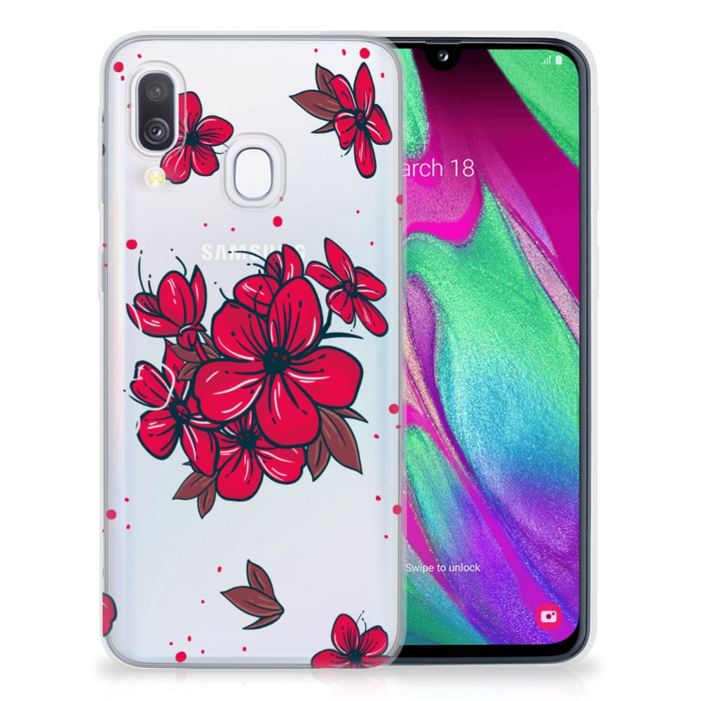 Samsung Galaxy A40 TPU Case Blossom Red