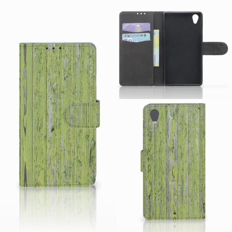 Sony Xperia Z1 Boekhoesje Design Green Wood