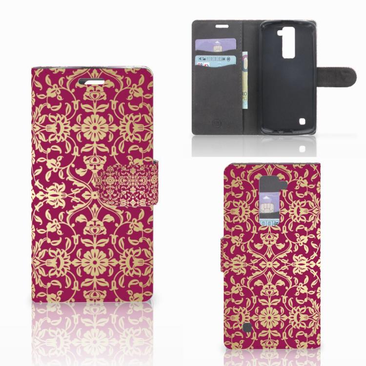 Wallet Case LG K10 2015 Barok Pink