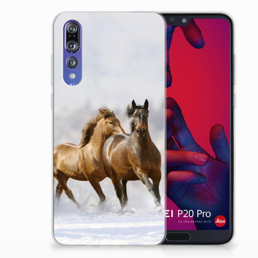 Huawei P20 Pro Uniek TPU Hoesje Paarden