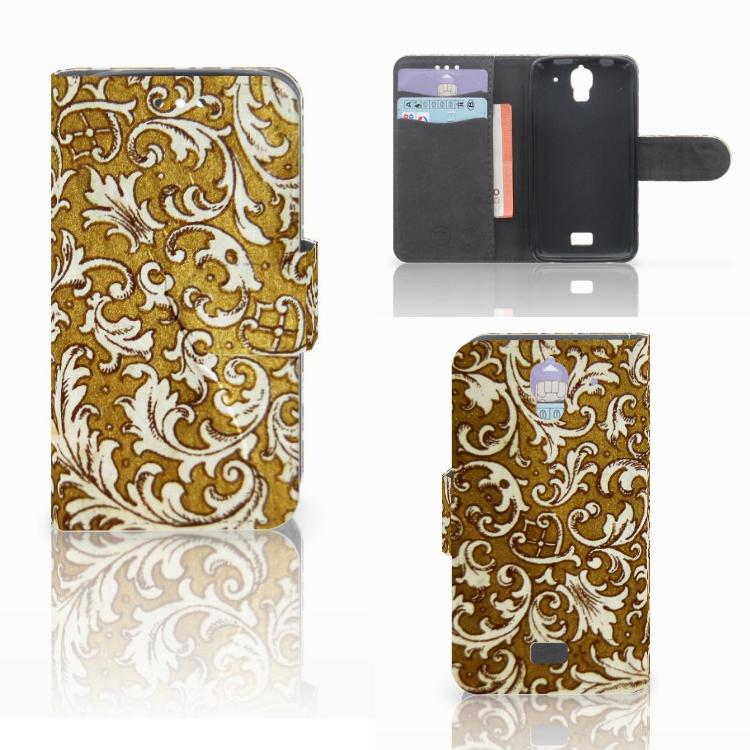 Wallet Case Huawei Y360 Barok Goud