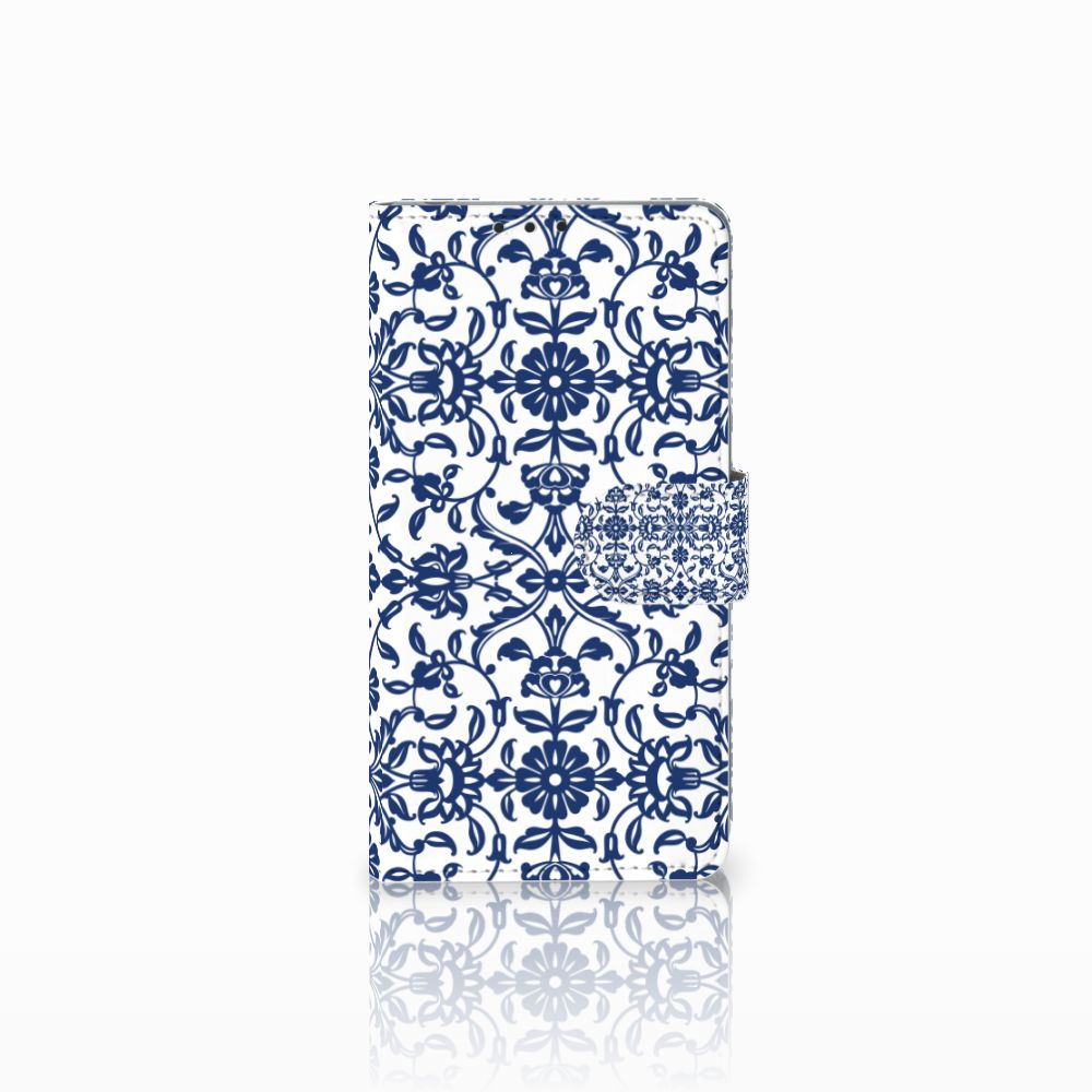Sony Xperia Z1 Uniek Boekhoesje Flower Blue