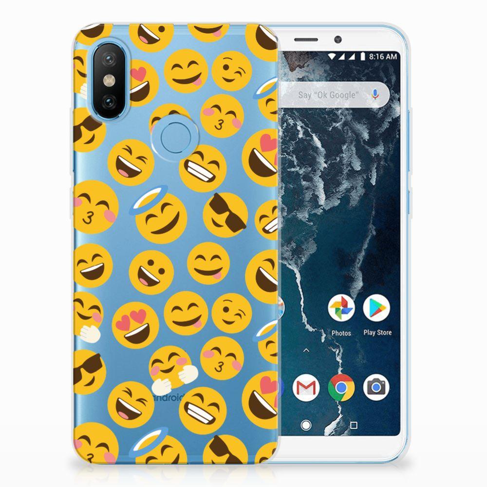 Xiaomi Mi A2 TPU Hoesje Design Emoji