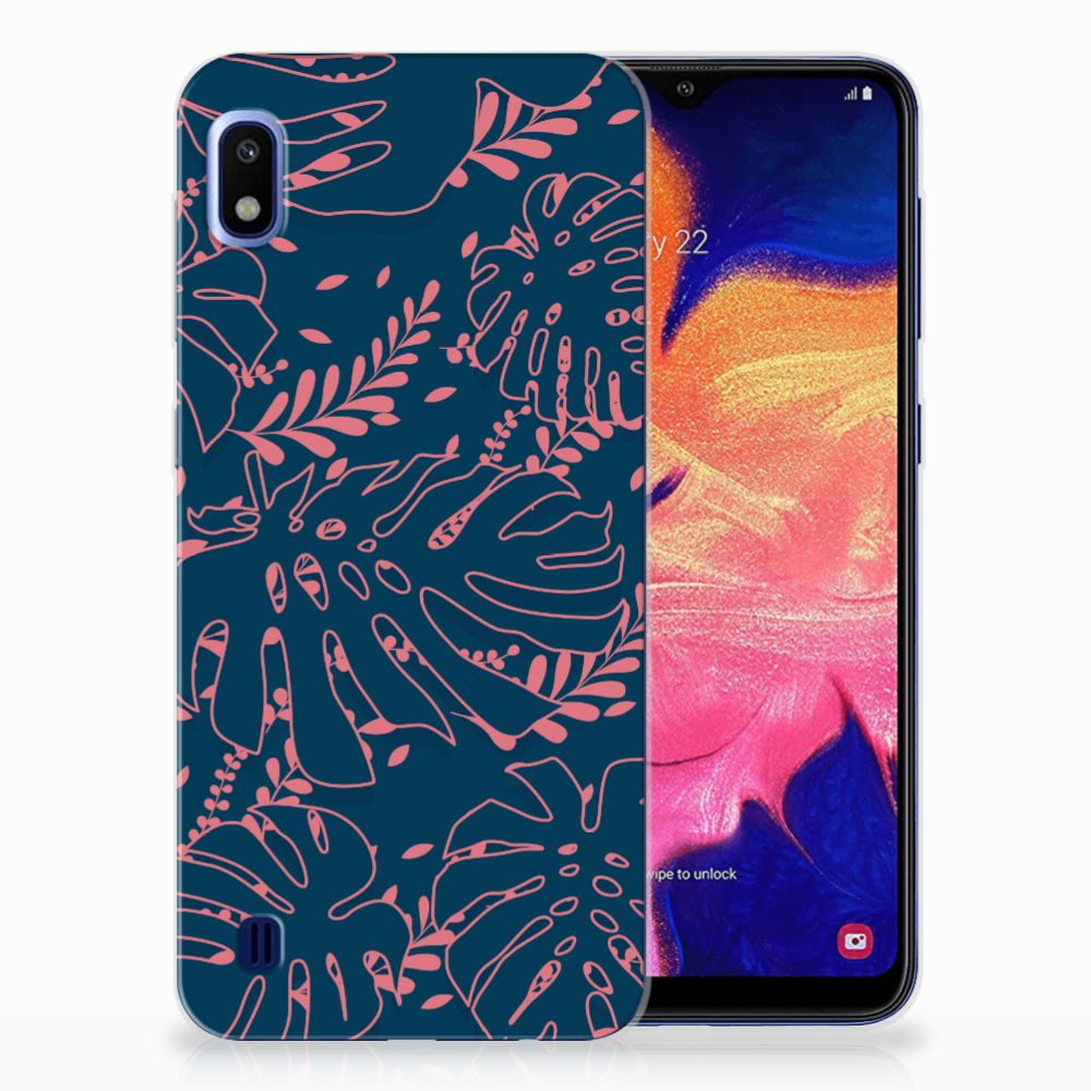 Samsung Galaxy A10 TPU Hoesje Design Palm Leaves
