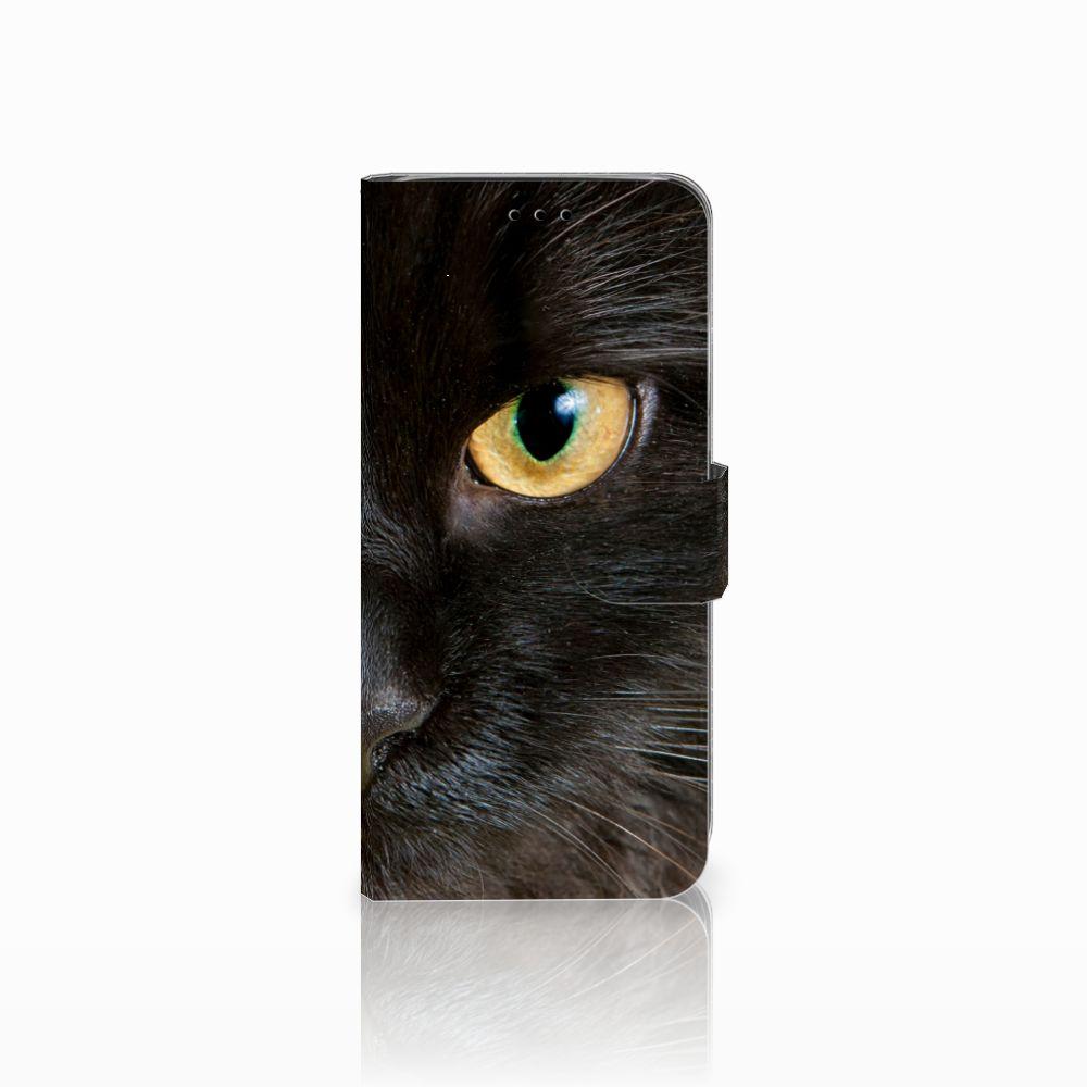 Samsung Galaxy A6 2018 Uniek Boekhoesje Zwarte Kat