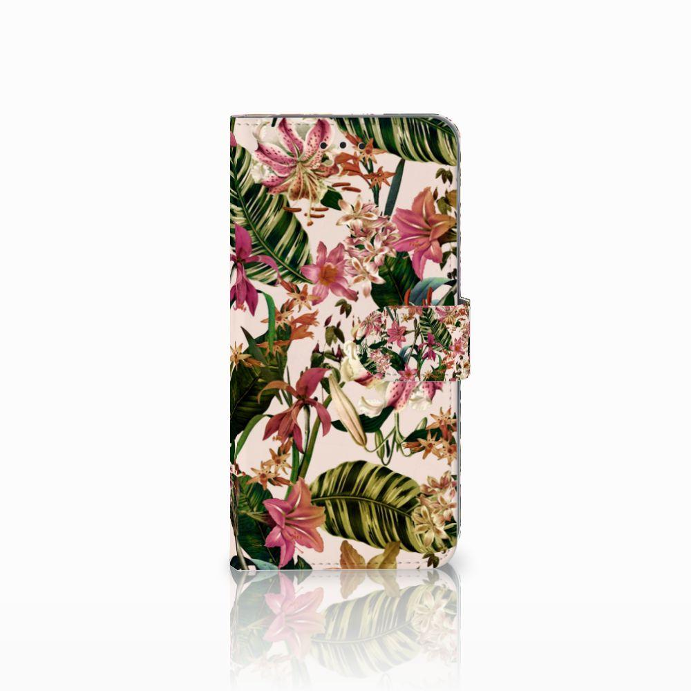Samsung Galaxy A6 Plus 2018 Uniek Boekhoesje Flowers