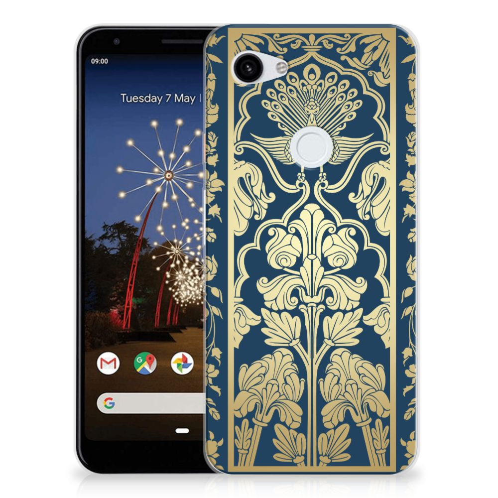 Google Pixel 3A XL TPU Case Golden Flowers