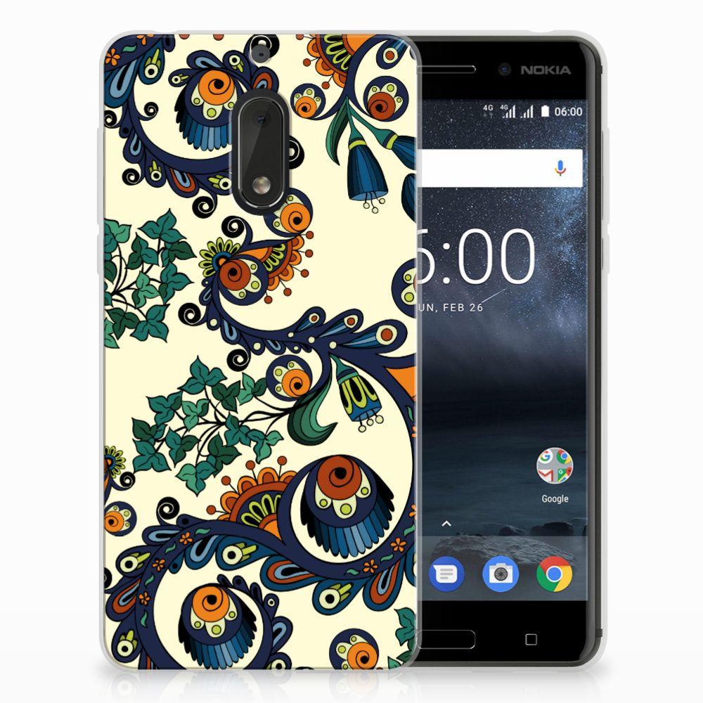 Siliconen Hoesje Nokia 6 Barok Flower