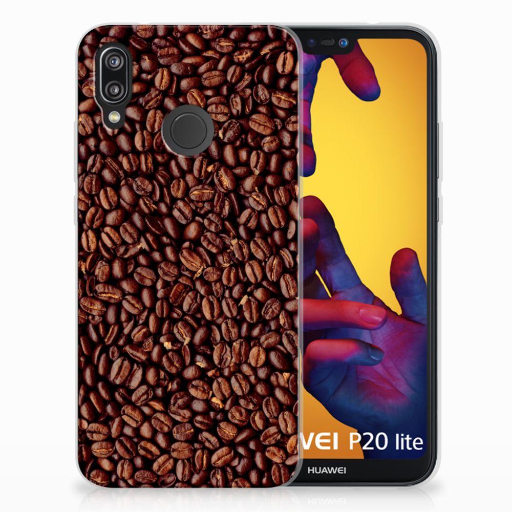 Huawei P20 Lite Siliconen Case Koffiebonen