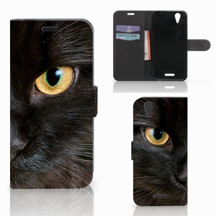 Acer Liquid Z630 | Z630s Telefoonhoesje met Pasjes Zwarte Kat