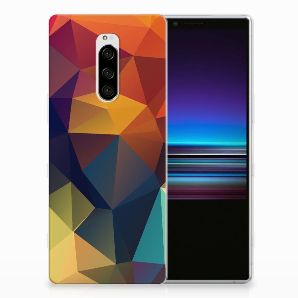 Sony Xperia 1 TPU Hoesje Polygon Color