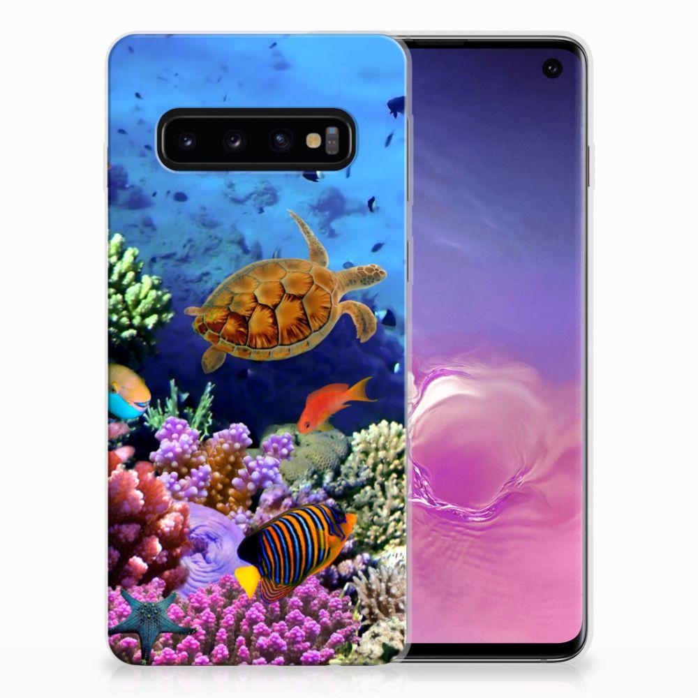 Samsung Galaxy S10 TPU Hoesje Vissen
