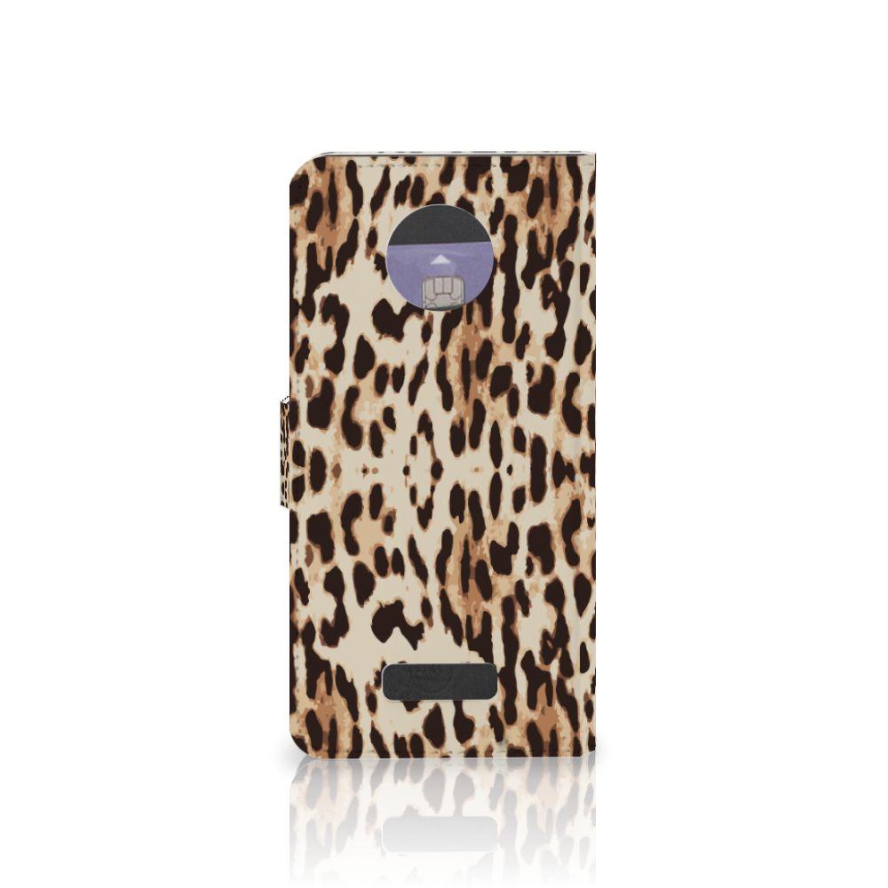 Motorola Moto Z Telefoonhoesje met Pasjes Leopard