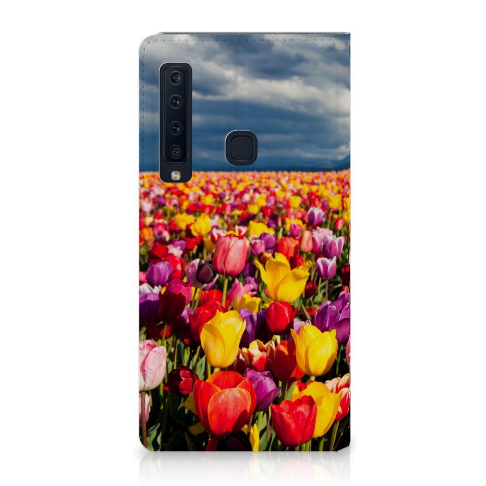 Samsung Galaxy A9 (2018) Uniek Standcase Hoesje Tulpen