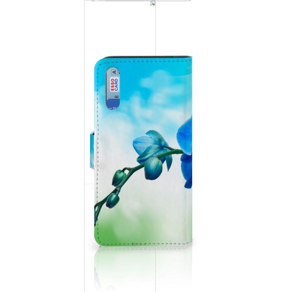 Huawei P20 Hoesje Orchidee Blauw