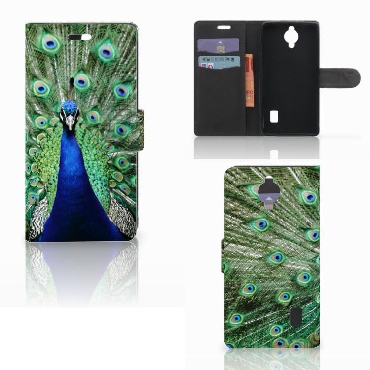 Huawei Y635 Telefoonhoesje met Pasjes Pauw