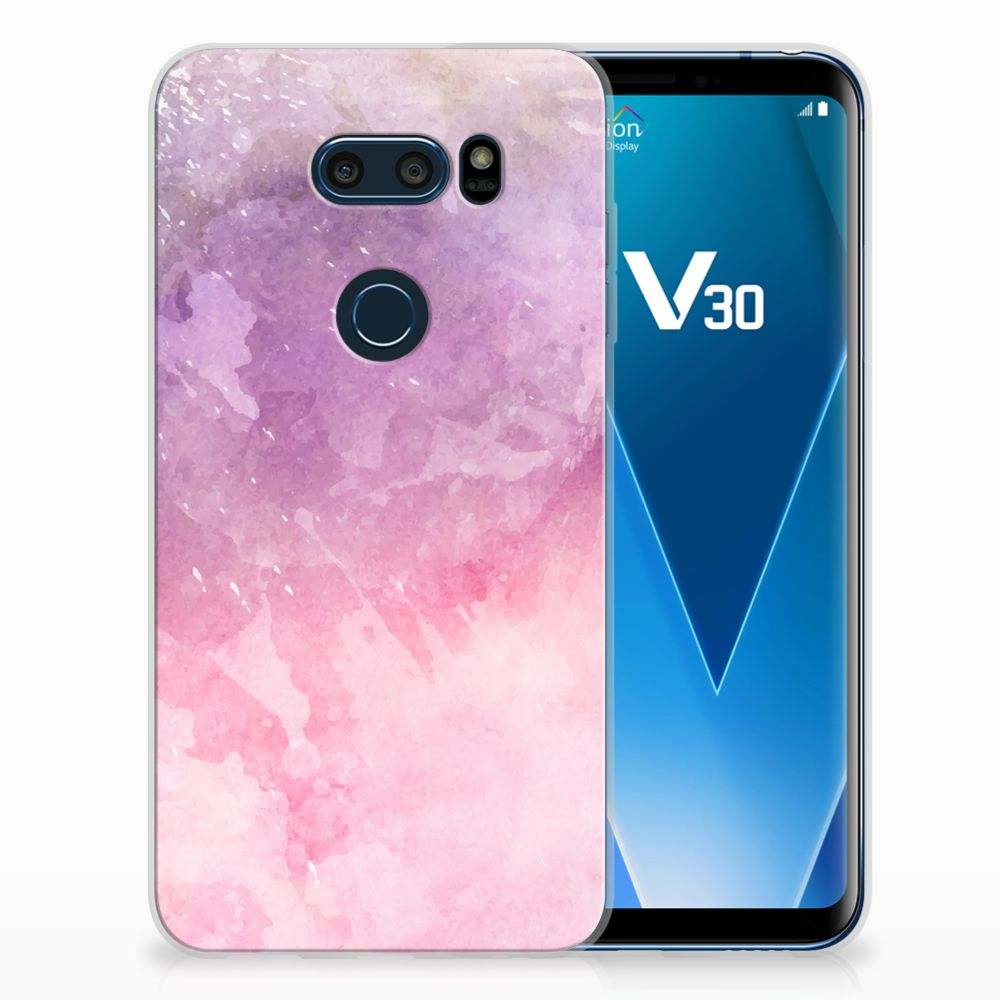 LG V30 TPU Hoesje Design Pink Purple Paint