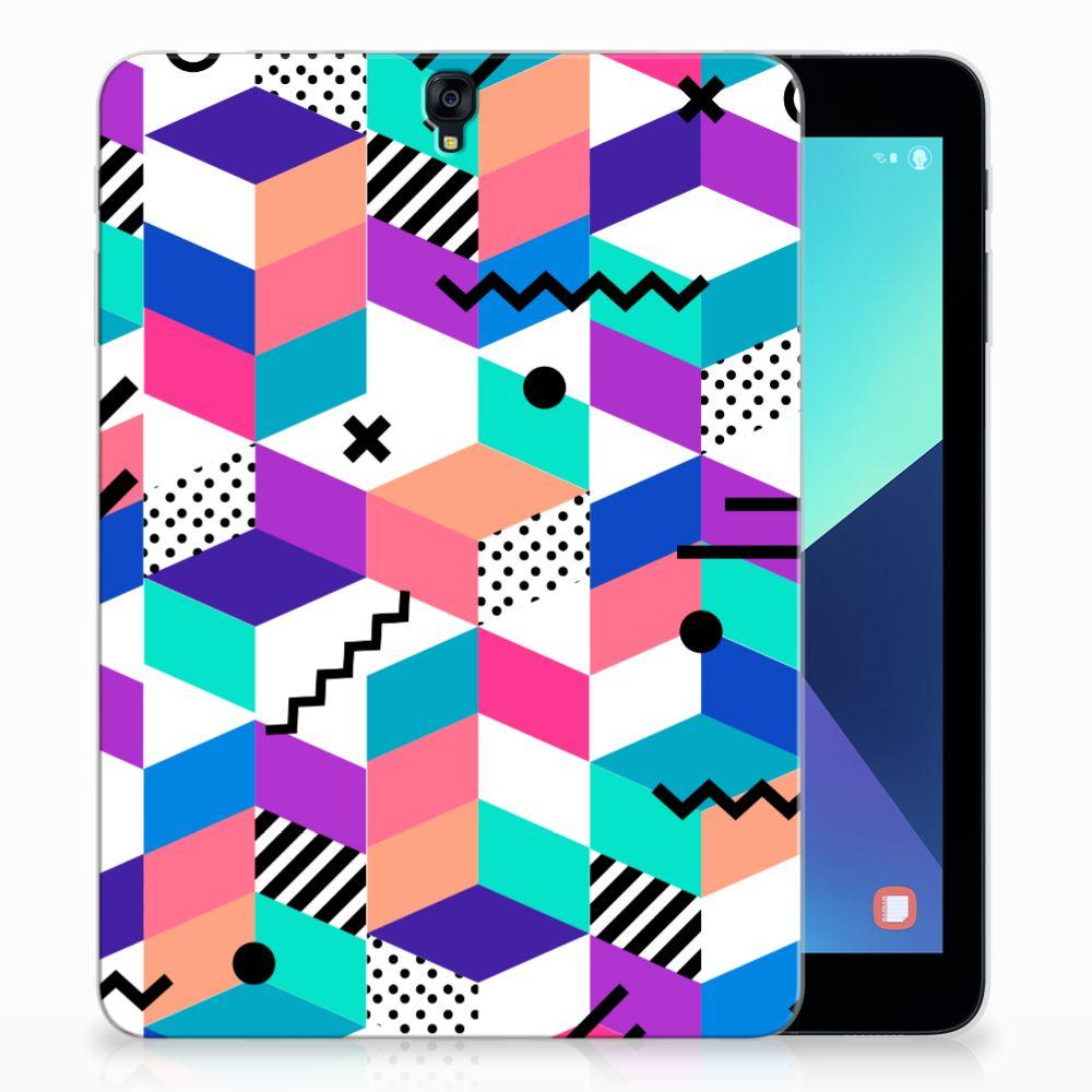 Samsung Galaxy Tab S3 9.7 Back Cover Blokken Kleurrijk