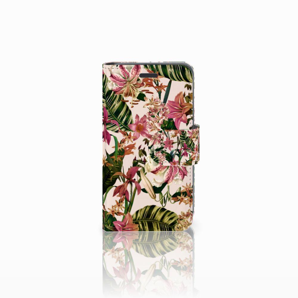 Nokia Lumia 520 Uniek Boekhoesje Flowers