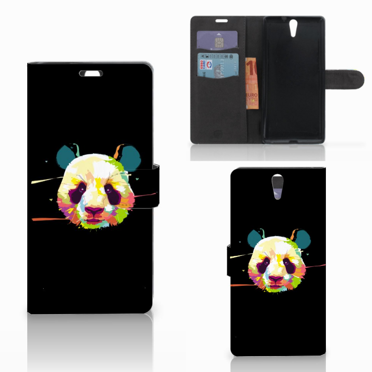 Sony Xperia C5 Ultra Leuke Hoesje Panda Color