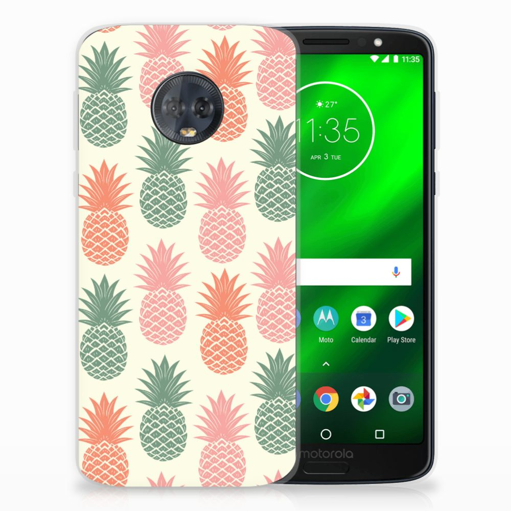 Motorola Moto G6 Plus TPU Hoesje Design Ananas
