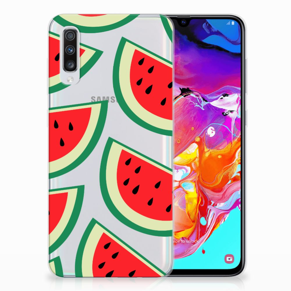Samsung Galaxy A70 Siliconen Case Watermelons
