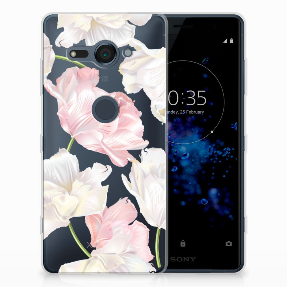 Sony Xperia XZ2 Compact TPU Hoesje Design Lovely Flowers
