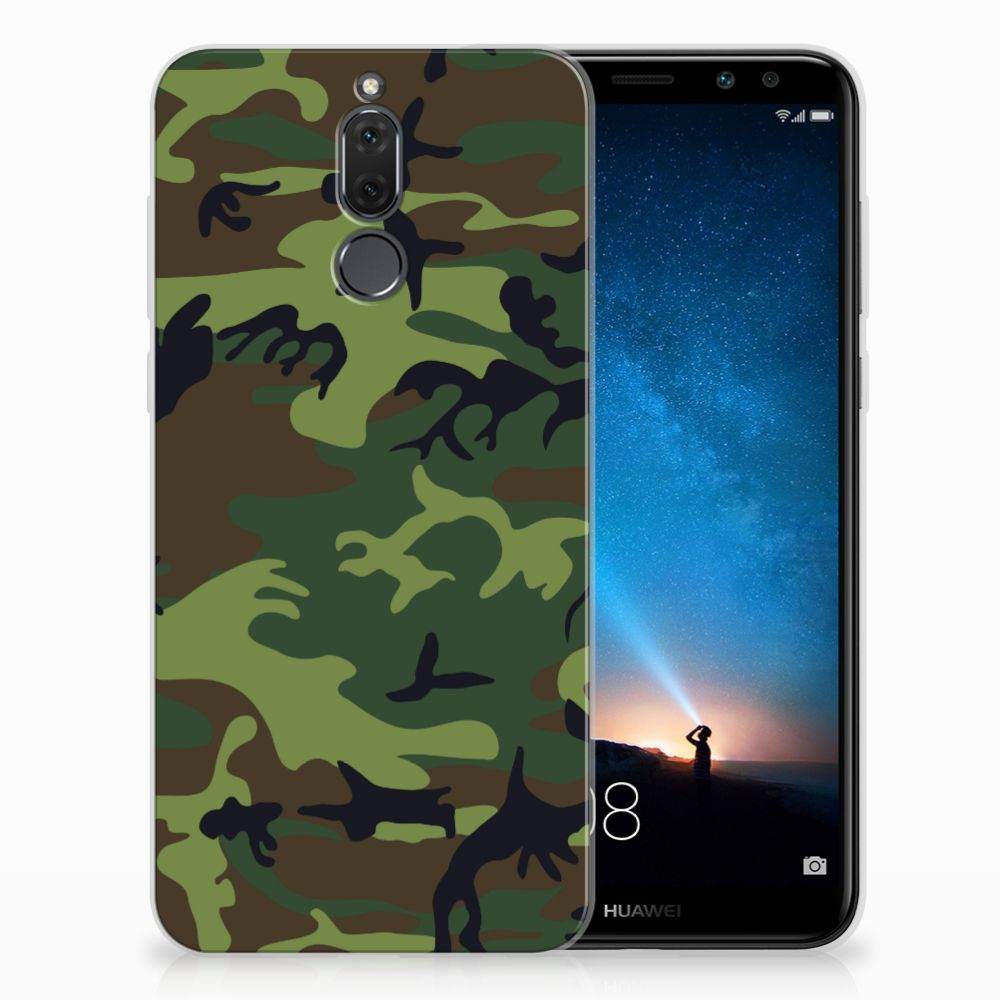 Huawei Mate 10 Lite TPU Hoesje Design Army Dark