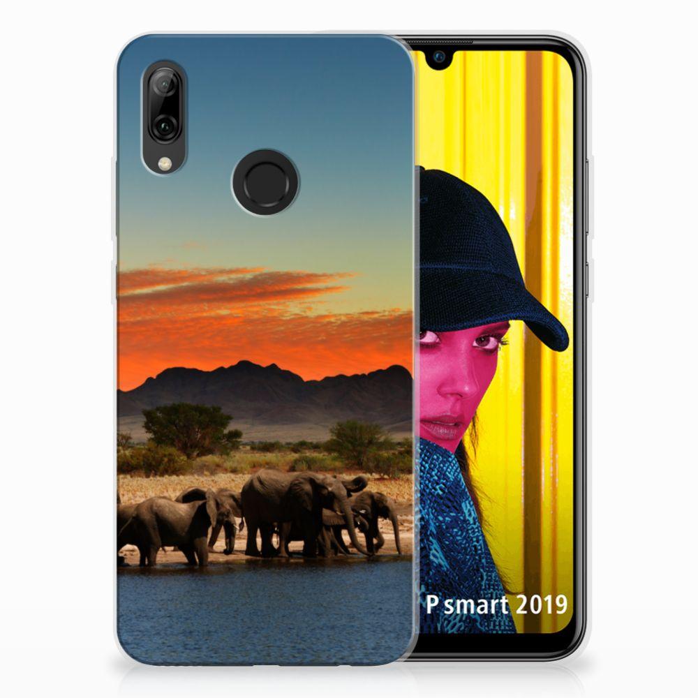 Huawei P Smart 2019 TPU Hoesje Design Olifanten