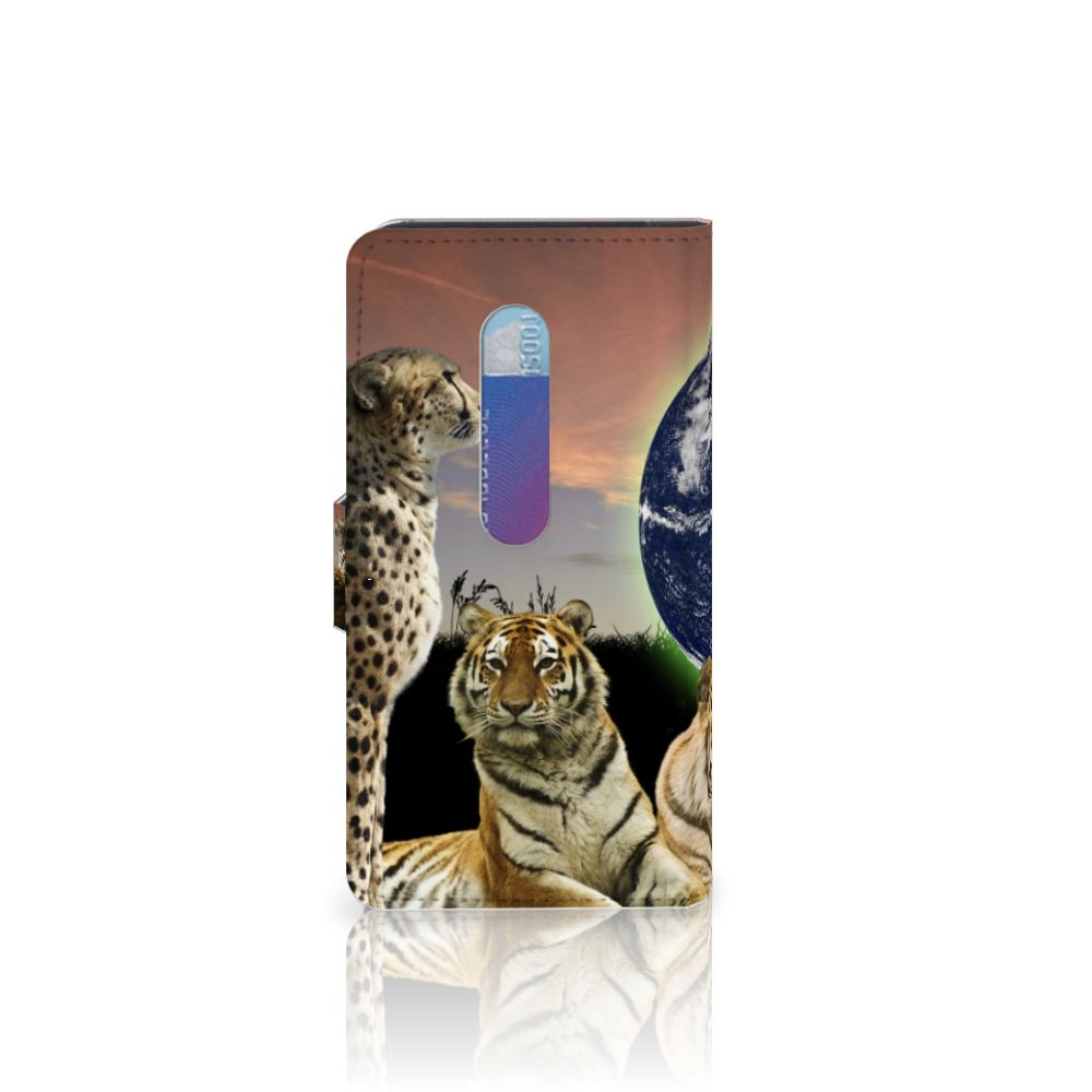 Motorola Moto G 3e Generatie Telefoonhoesje met Pasjes Roofdieren