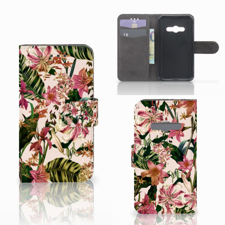 Samsung Galaxy Xcover 3 | Xcover 3 VE Hoesje Flowers