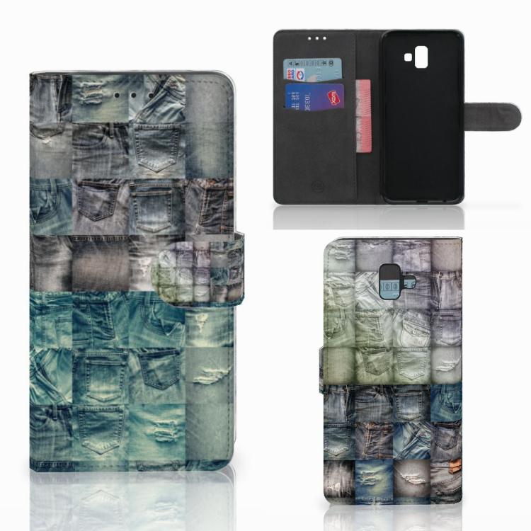 Wallet Case met Pasjes Samsung Galaxy J6 Plus (2018) Spijkerbroeken