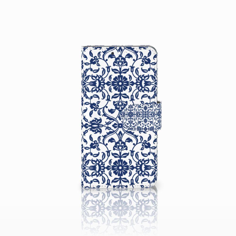 Nokia 8 Sirocco | Nokia 9 Uniek Boekhoesje Flower Blue