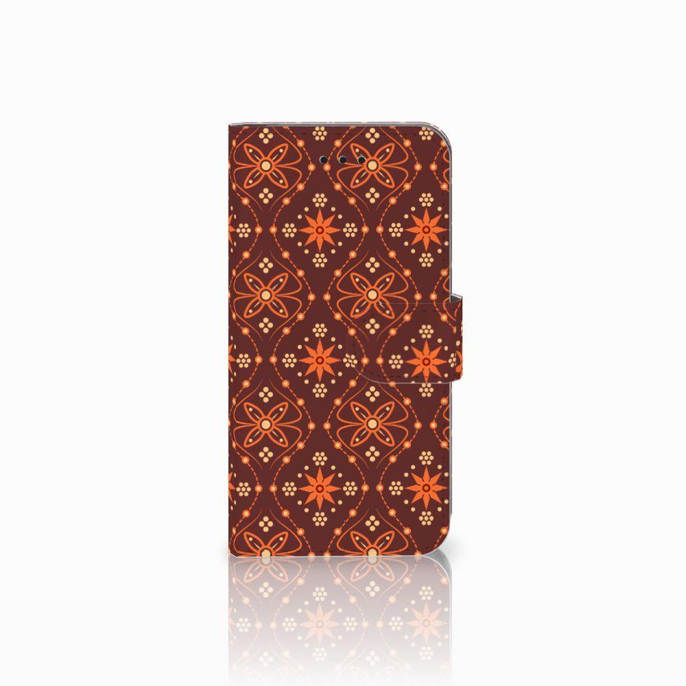 Apple iPhone X   Xs Uniek Boekhoesje Batik Brown