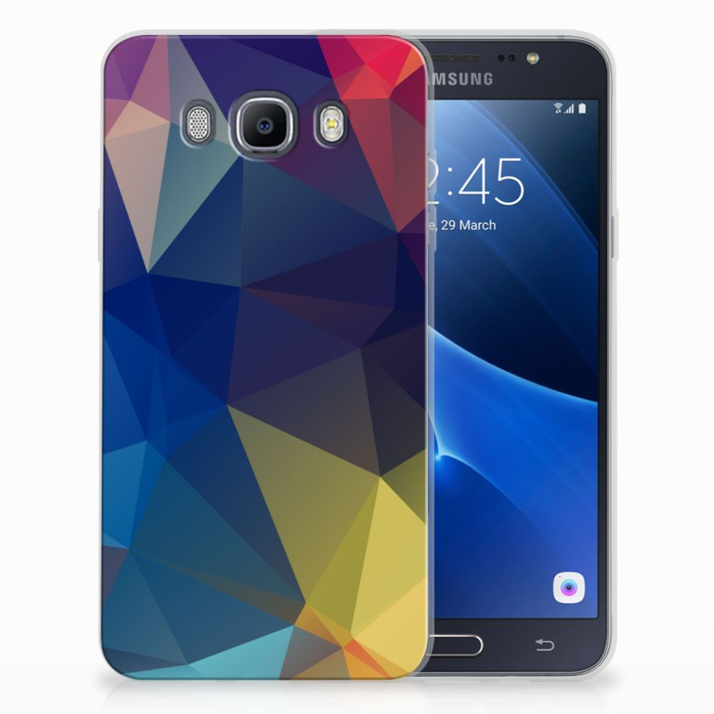 Samsung Galaxy J7 2016 Uniek TPU Hoesje Polygon Dark