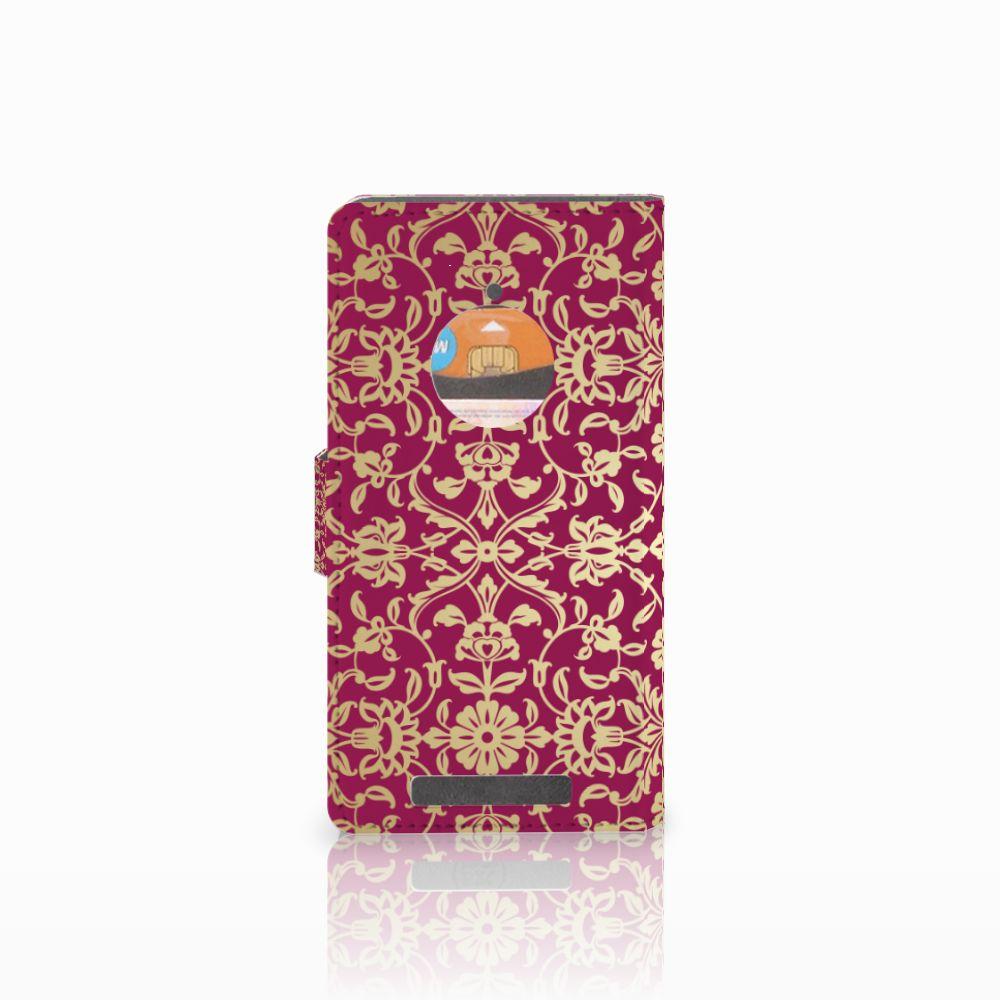 Wallet Case Nokia Lumia 830 Barok Pink