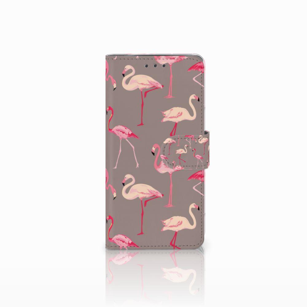 Motorola Moto X4 Uniek Boekhoesje Flamingo