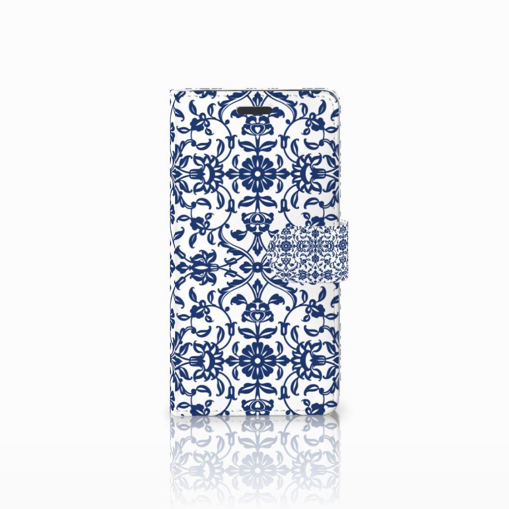 Samsung Galaxy Note 5 Boekhoesje Flower Blue